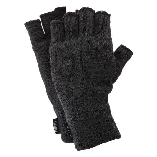 FLOSO Mens Thermal Fingerless Gloves (3M 40g)
