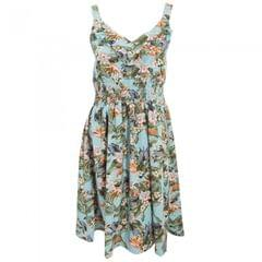 Womens/Ladies Jungle Print Summer Dress With Wide Straps