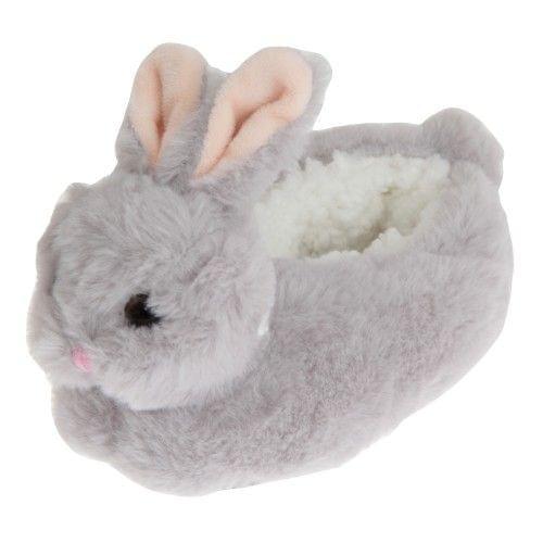 Slumberzzz Childrens/Kids Fluffy Bunny Rabbit Slippers