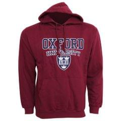 Mens Oxford University Print Hooded Sweatshirt