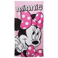 Disney Minnie Mouse Childrens Girls Pink Printed Beach Towel