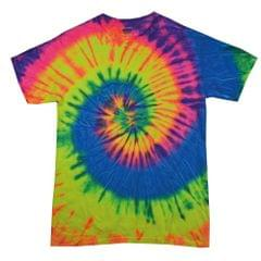 Colortone Kids/Childrens Little Boys Rainbow Tie-Dye Heavyweight T-Shirt