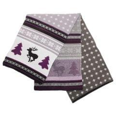 FLOSO Mens Knitted Christmas Fairisle Pattern Winter Scarf