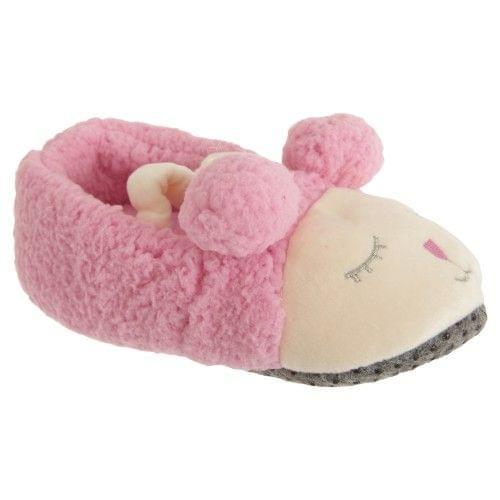 Slumberzzz Childrens Girls Slip On Sheep Slippers