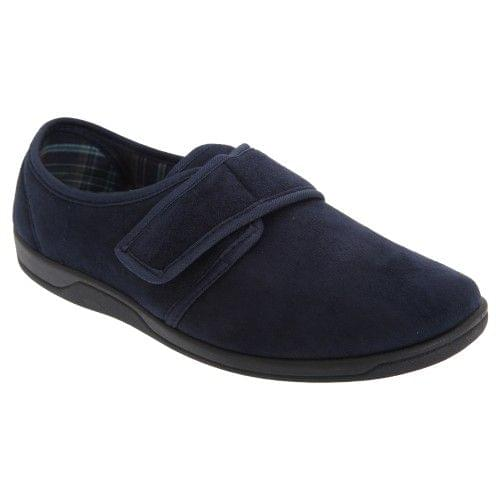 Sleepers Mens Tom Imitation Suede Touch Fastening Slippers