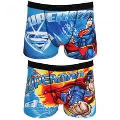 DC Comics Mens Superman Cotton Rich Boxer Shorts (2 Pairs)