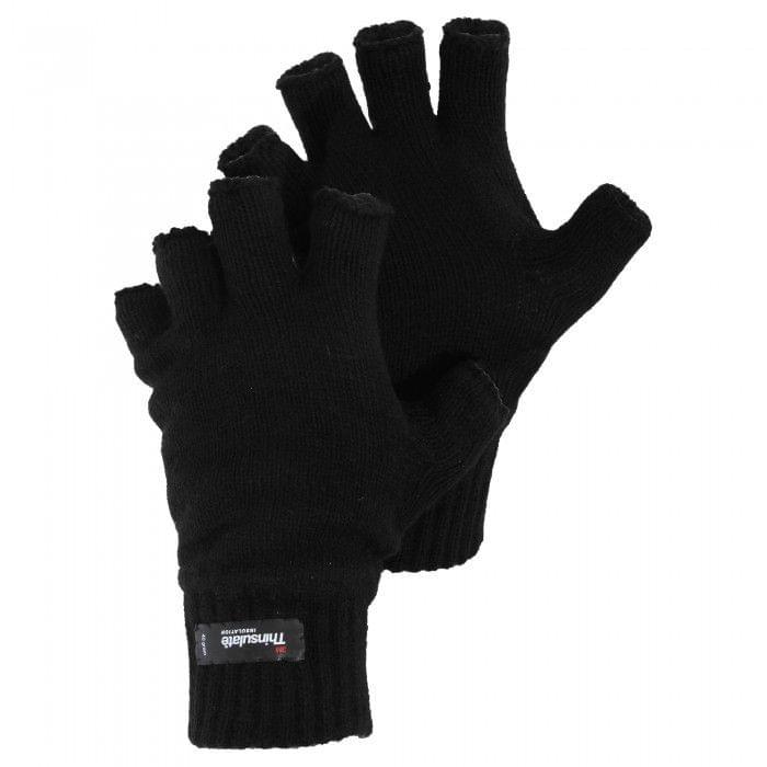 Mens Knitted Winter Heatguard Fingerless Gloves