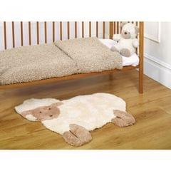Flair Rugs Babies Nursery Little Lamb Shaped Plush Rug