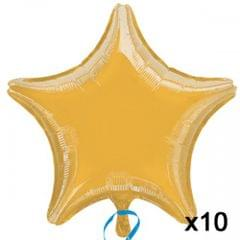 Anagram 19 Inch Star Foil Balloon (Pack Of 10)