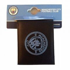 Manchester City FC Official Soccer Crest Embroidered PU Leather Wallet