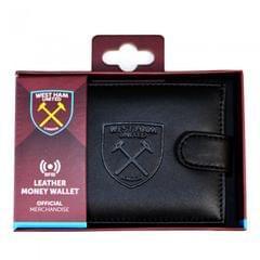 Herren RFID-Ledergeldbeutel mit West-Ham-United-FC-Prägung
