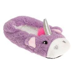 Slumberzzz Kids/Girls Fleece Unicorn Slippers