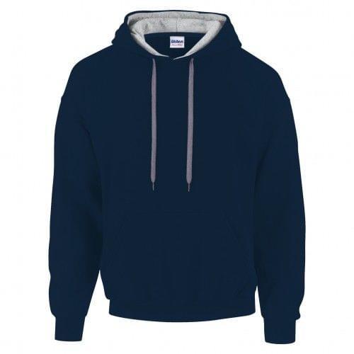 Gildan Mens Heavy Blend Contrast Hooded Sweatshirt / Hoodie