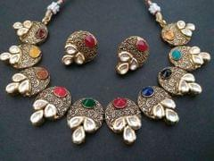 Gold Plated Necklace set with an year warranty
