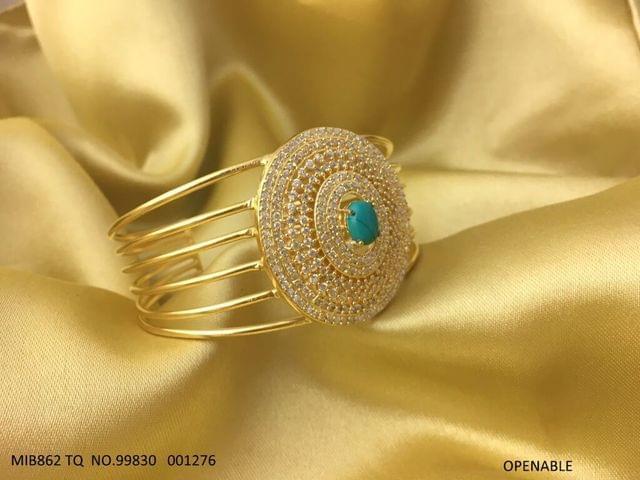 Beautiful Kada with American Diamond and Semi Precious Stone