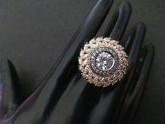 American Diamond Finger ring with an year warranty- Adjustable Size