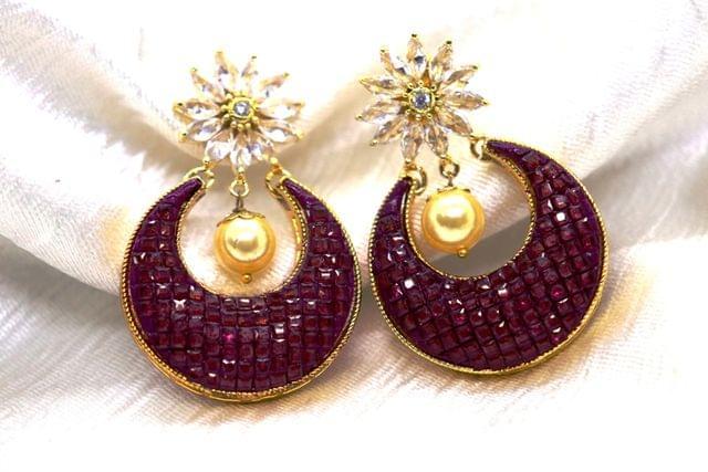 Beautiful Ruby Stone Earrings with an year warranty
