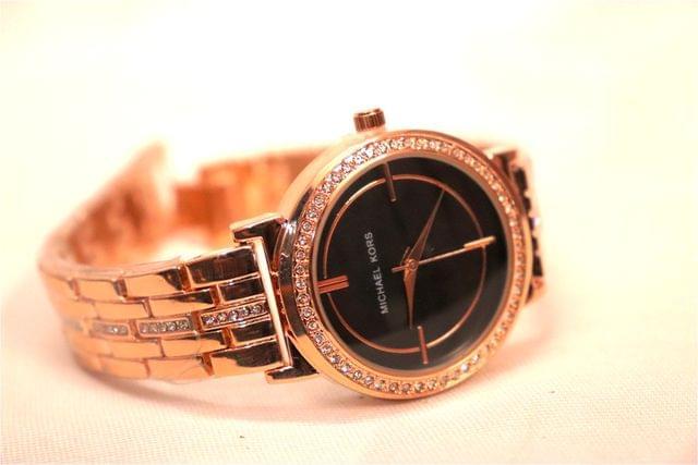 Diamond Studded Watch with an year warranty- MK