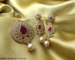 American Diamond Pendant set with beautiful pair of earrings