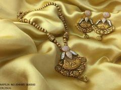 Brass Pendant set, studded with American Diamonds . Its gold plated