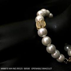 Semi precious beads and fresh water pearl bracelet with 1 year warranty