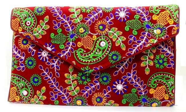 Pure Handworked Clutch ,originally from Kutch,Detailed Embroidery by Kutch workers