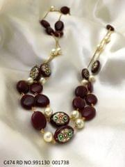 High quality beads necklace with an year warranty