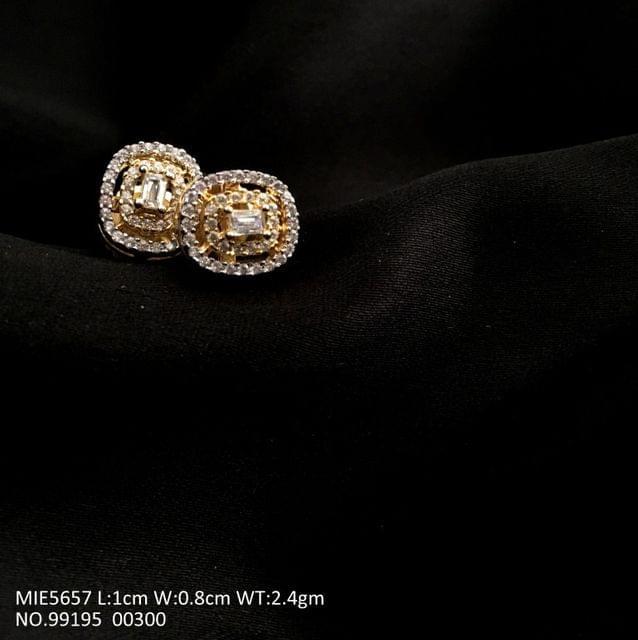 American Diamond + Brass Studd