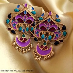 Precious Stone studded Beautiful Hand-painted Earring/Dangler with an year warranty