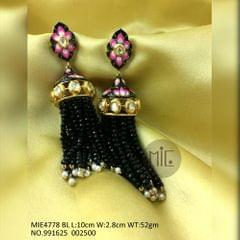 High quality Brass earring ,with Kundan Stones and gold plating