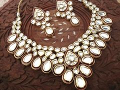 High Class Heavy Kundan Necklace set with an year warranty