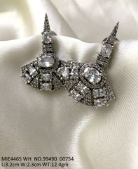 High class earring studded with American Diamond . 1 year warranty