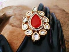 Buy this beautiful Kundan Finger ring studded with American Diamond stone with an year warranty