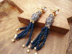 Buy this beautiful Kundan Studded American Diamond earrings with an year warranty