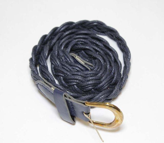 Three chord simple braided stylish and youthful fashionable and trendy look casual-fun type chic belt
