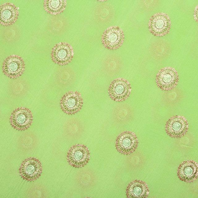 Simple circles stylish feel monarchical elements embroidered fabric