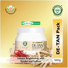 Intenso DeTan Insta Brightening Pack (Gold Radiance with Sandal & Saffron) - 500 g