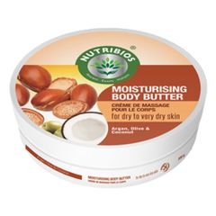 Nutribios Moisturising Body Butter (Argan, Olive & Coconut Oil)