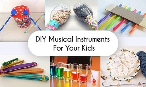 How to make amazing Musical Instruments for Kids from Recycled Items found in your House