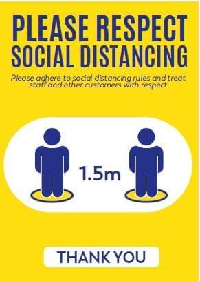 COVID-19 Social Distancing Signage
