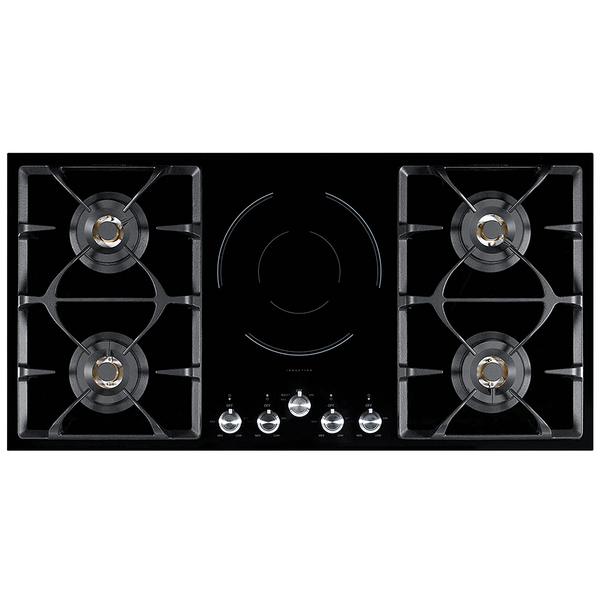 101.5cm Gas + Induction Glass Cooktop NG