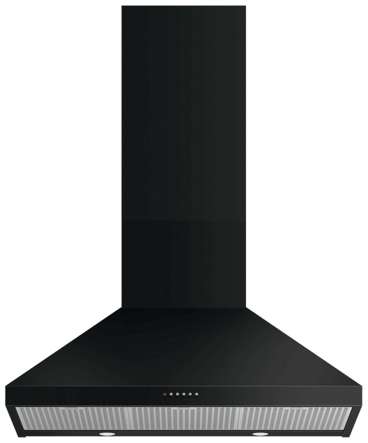 90cm Classic Canopy Rangehood Black