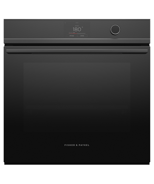 60cm Series 9 85L Pyrolytic Oven 16 Function Blk
