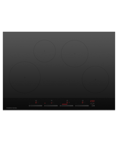 75cm Induction Cooktop w/ 4 Cooking Zones - Black