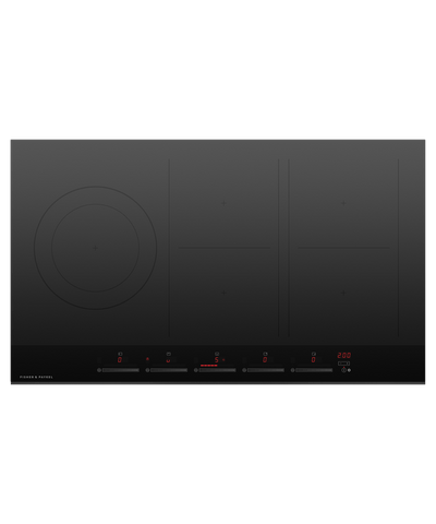 90cm Induction Cooktop w/ 5 Cooking Zones - Black