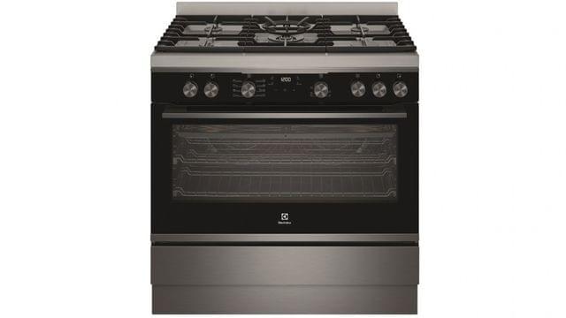 90cm Dual Fuel 8 Function Freestanding Cooker Dark S/S
