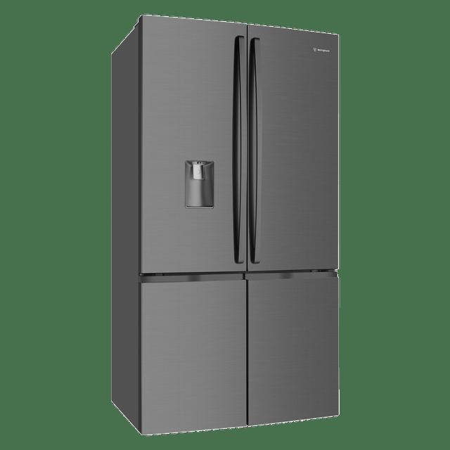 600L French 4 Door Fridge w/ Water Dispenser - Dark S/S
