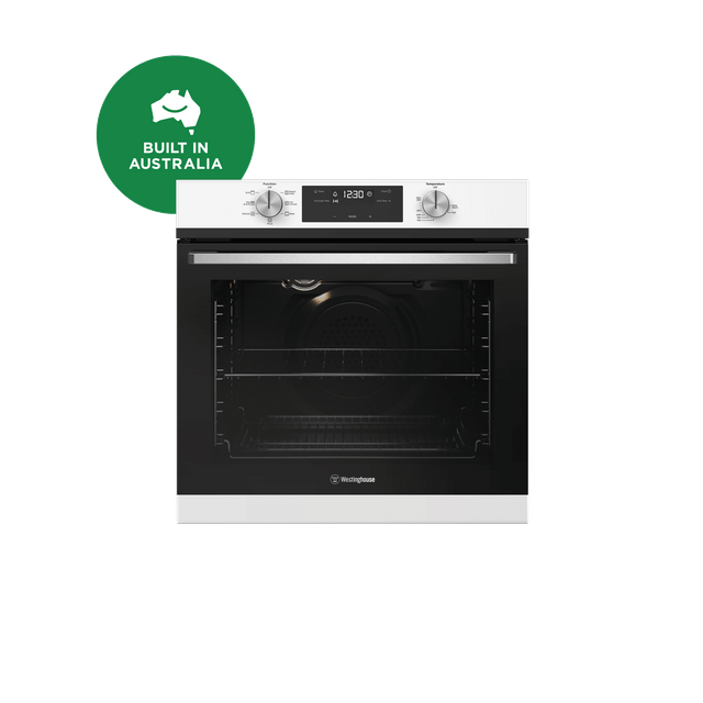 60cm 7 Function Oven Programmable Knob Control White