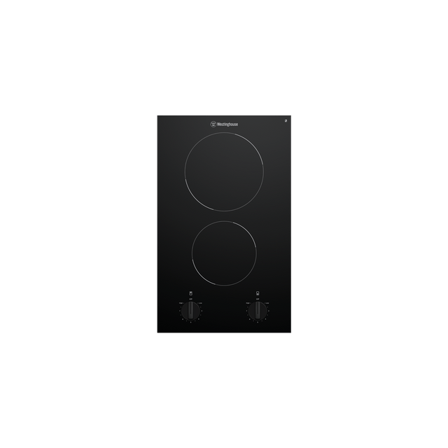 30cm Ceramic Cooktop 2 Element Knob Control
