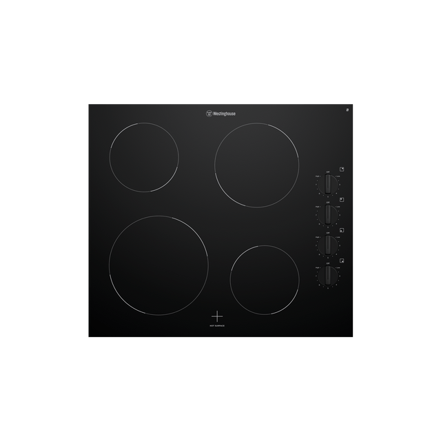 60Cm Ceramic Cooktop, 4 Zone, Knob Controls